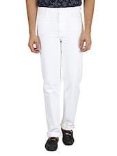 white color, cotton jean -  online shopping for Jeans