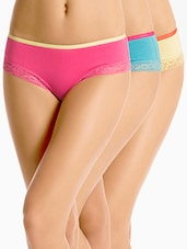 Cotton Spandex Hipsters Set of 3 -  online shopping for panty