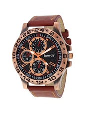 brown leather strap chronograph watch -  online shopping for Chronograph Watches