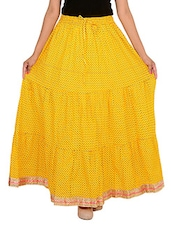 yellow cotton flared skirt -  online shopping for Skirts
