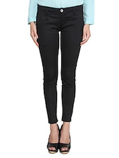 black satin flat front trouser -  online shopping for Trousers