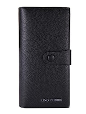 black leatherette textured wallet -  online shopping for wallets