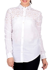 white cotton regular shirt -  online shopping for Shirts