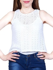 white net A-line top -  online shopping for Tops