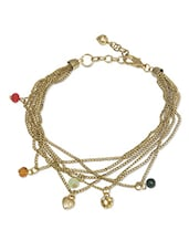 gold acrylic beads anklet -  online shopping for anklets and payals