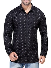 black paisley cotton casual shirt -  online shopping for casual shirts