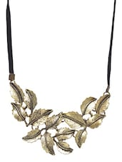 Golden & Black Metallic Necklace - By