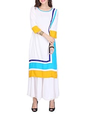 White Rayon Straight Kurta - By