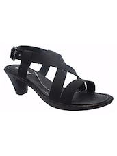 black synthetic  sandal -  online shopping for sandals