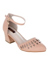 nude synthetic pump -  online shopping for pumps