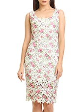 white polyester printed dhift dress -  online shopping for Dresses