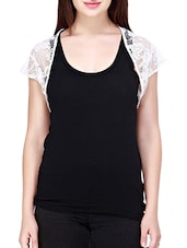 white floral net shrug -  online shopping for Shrugs