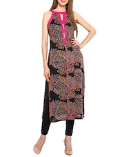 black viscose straight kurta -  online shopping for kurtas