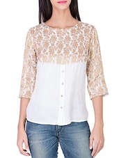 white cotton top -  online shopping for Tops