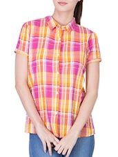 multicolored checkered rayon regular shirt -  online shopping for Shirts