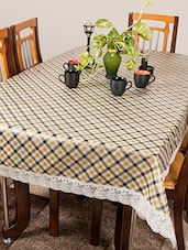 Azalea Gripper 8 Seater PVC Anti Slip Table Cover , Yellow ,Pack Of 1 - By