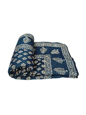 blue printed double bed winter quilt -  online shopping for Quilts and comforters