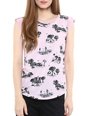 pink polyester regular tee -  online shopping for Tees