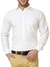 white cotton formal shirt -  online shopping for formal shirts