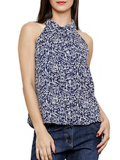 navy blue regular top -  online shopping for Tops