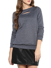 grey fleece regular sweatshirt -  online shopping for sweatshirts