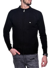 black acrylic pullover -  online shopping for Pullovers
