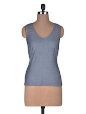 Grey Poly Cotton Top - By
