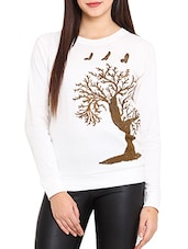 white cotton sweatshirt -  online shopping for sweatshirts