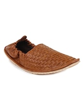 tan leatherette slip on juti -  online shopping for Jutis