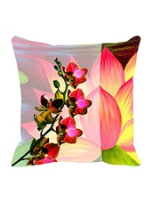 Leaf Designs Pink & Yellow Summer Floral Cushion Cover - By