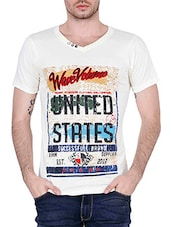 white printed cotton t-shirt -  online shopping for T-Shirts