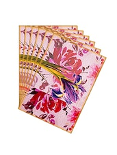 Leaf Designs Purple & Pink Summer Floral Table Mats - Set Of 6 - By