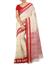 White Khadi Handloom Saree -  online shopping for Sarees