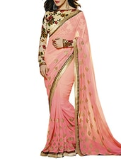 pink georgette saree -  online shopping for Sarees