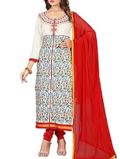 multi cotton straight semistitched suit -  online shopping for Semi-Stitched Suits