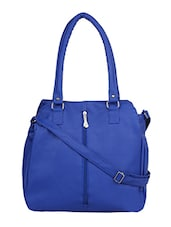 blue leatherette handbag with sling -  online shopping for handbags