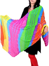 Multi Poly Chiffon Leheriya Dupatta - By