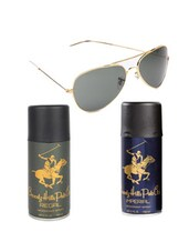 Beverly Hills Polo Club Classic Deodorants (Imperial, Regal) with Golden Aviator -  online shopping for Gift Sets