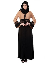 black crepe burqua dress -  online shopping for cloaks & abaya