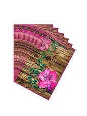 Leaf Designs Natural & Pink Table Mat - Set of 6 -  online shopping for Placemats