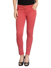 red cotton trouser -  online shopping for Trousers