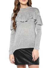 grey viscose top -  online shopping for Tops