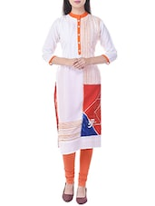 White Rayon Straight Kurta - By - 12412298