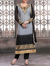 grey georgette salwar suits dress material -  online shopping for Dress Material