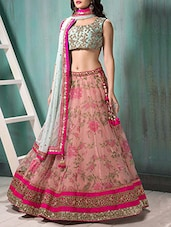pink Georgette a-line lehenga -  online shopping for lehengas