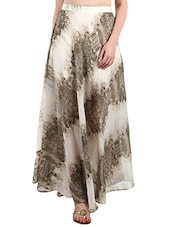 Brown and cream printed maxi skirt -  online shopping for Skirts