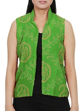 green chiffon summer jacket -  online shopping for Summer Jackets