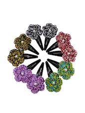 Multi color Hair Clip pack of 5 -  online shopping for Hair accessories