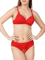 red cotton bras and panty set -  online shopping for bras and panty set