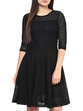 black net aline dress -  online shopping for Dresses